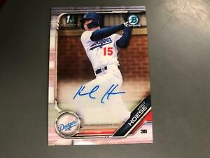 Kody Hoese 2019 Bowman Chrome Auto Autograph Rookie Los Angeles Dodgers A15