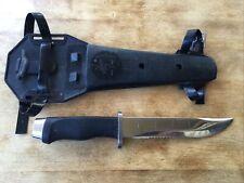 Vintage 1970s Healthways Diver Knife Japan Stainless Steel w/ Sheath