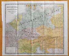 1870 - Carte de l'europe centrale pour suivre les opérations militaires - Guerre