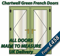 Chartwell Green French Doors 1400mm wide x 2100  / French Patio Doors