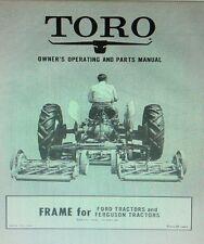 Toro Reel Mower Frame For Ford 8n Amp Ferguson Farm Tractor Owner Amp Parts Manual