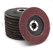 10pcs 4 Inch 60 Grit Aluminum Oxide Flap Disc Sanding Grinding Wheels