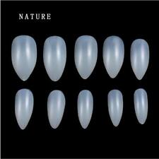 100/600x Artificial Sharp Nails Tips False Fake Full Cover DIY Pointy Stiletto J
