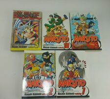 (5) Naruto Yu Gi Oh Shonen Jump Graphic Novel Anime Book Fast Free Shipping!