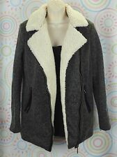 Women Windbreaker Warm Long Sleeve Coat Jacket Forever 21 Size Medium M Gray