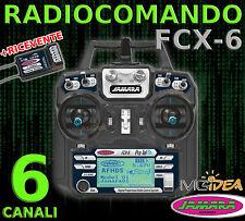 RADIOCOMANDO RADIO RC FCX-6 6 CANALI 2,4GHZ DISPLAY TELEMETRIA SENSORI +RICEVENT