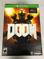 Xbox One Doom Collector's Edition NEW SEALED - Revenant Statue / Steelbook