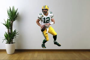 Aaron Rodgers Green Bay Packers Fathead Style Wall Decal Sticker
