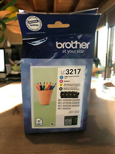 Original Brother LC3217 Ink Cartridge Multipack Set Pack Of 4 LC 3217 - 07/2022