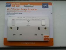 Double Power Wall Socket With Built-in 2.4GHz Wi-Fi Range Extender