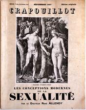 LE CRAPOUILLOT, septembre 1937 - CONCEPTIONS MODERNES DE LA SEXUALITE, ex. num.