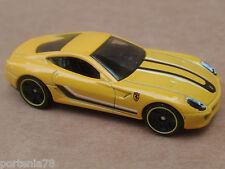 2015 Hot Wheels FERRARI 599 GTB FIORANO 21/250 Street Power LOOSE Yellow