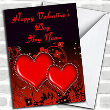 Red Diamond Heart Romantic Valentine's Customised Card