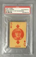 1927 W560 PAUL WANER 3 DIAMONDS HOF PITTSBURGH PIRATES HAND CUT PSA AUTHENTIC