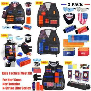 Kids Tactical Vest Kit for Nerf Guns Nerf fortnite N-Strike Elite Series Choose