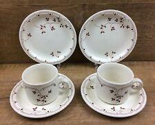 2 x Churchill Sincerity Tea Cups and Saucers & Tea Plates Trio