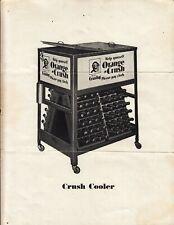 RARE ORANGE CRUSH COOLER GLASCOCK ADVERTISING SHEET. BEAUTIFUL 1920S RARE