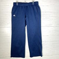 Adidas Climawarm Blue Athletic Sweatpants Fleece Lined Men's Size Small