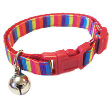 Spoilt Rotten Pets Quality Rainbow LGBTQ+ Cat Collar. Safety Buckle & Bell