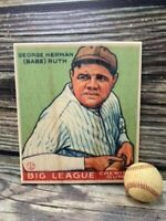 12 inch tall Babe Ruth #181 Goudey  Wooden Baseball Card ! Sports Room Decor