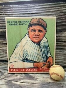 12 inch tall Babe Ruth #181 Goudey  Wooden Baseball Card ! Sports Room Decor
