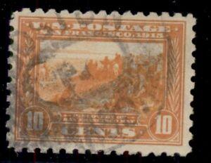 US #404 10¢ orange, p. 10, used, VF, Scott $70.00