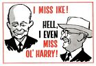 1960's Novelty Poster Missing Ike and Harry Truman