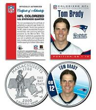 TOM BRADY Massachusets State Quarter US Coin NFL New England Patriots *LICENSED*
