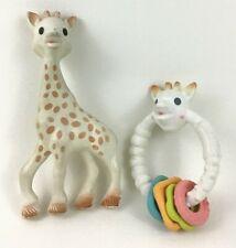 Sophie La Giraffe Baby Teether Teething Squeaky Ring Toys Lot Babies