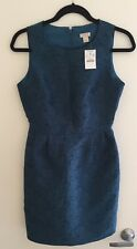 NWT J. Crew Anemone Blue Jacquard Dress US 0 AU 6 -8
