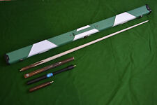 NEW HANDMADE ROSEWOOD ASH SNOOKER/POOL CUE SET WITH CASE EXTENSION SET
