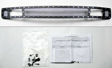 Chevy Silverado 1500 07-13 Black Wire Mesh Rivet Stud Lower Grill Insert
