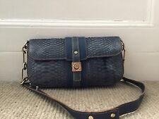 Lanvin Blue Python Snakeskin Bag Vgc With Dust Bag