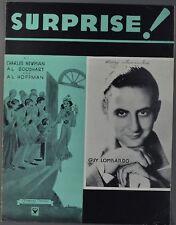 1933 SURPRISE Sheet Music GUY LOMBARDO Newman Goodhart Hoffman