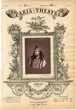 Petit Pierre, Paris-Théâtre, Jean louis Lassalle (1847-1909), chanteur Vintage a
