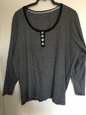 Black and Grey long sleeve Evans top size 26/28
