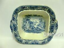 More details for blue & white victorian open pie dish or serving piece