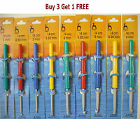 Pony Crochet Hooks Lace Knitting Threading Sewing Needle Repair 0.6mm to 20.0mm
