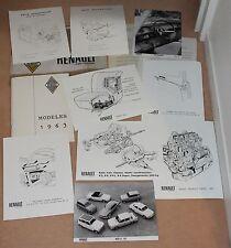 (38B) DOSSIER PRESSE RENAULT SALON AUTO 1962 MODÈLES 1963 (R4-R8-GORDINI-FLORIDE