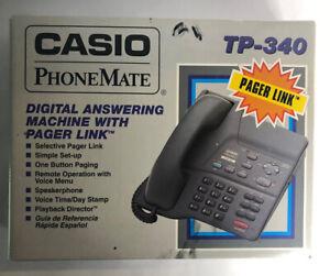 Casio PhoneMate TP-340  Digital Answering Machine Vintage Phone Mate Time Day