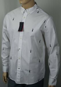 Tommy Hilfiger White Champagne Bottle Classic Dress Shirt NWT