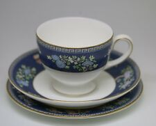 BEAUTIFUL WEDGEWOOD BLUE SIAM PATTERN COFFEE CUP SAUCER & BREAD PLATE SINGLE SET