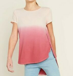 OLD NAVY Girls Luxe Dip Dyed Tulip Hem Tunic #56978-7