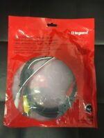 LOT OF 3 Composite Video L/R Audio Cable - 6ft Black - AC2006-BK