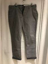 MEN'S Denim & Co. 36S (short) Grey Trousers - Stretch Slim