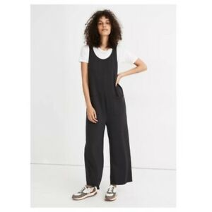 Madewell Women MWL Superbrushed Pull-On Jumpsuit Black Coal Charcoal Grey Size M