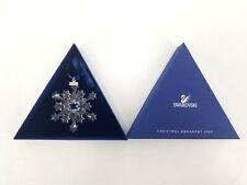 Swarovski Crystal Snowflake Christmas Ornament 2004 With Triangle Box