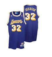 Earvin Magic Johnson #32 Los Angeles Lakers Vintage Stitched Basketball Jersey