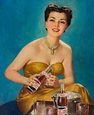 "1950s Pepsi Vintage Illustrations  Ad 14 x 11"" Photo Prin"