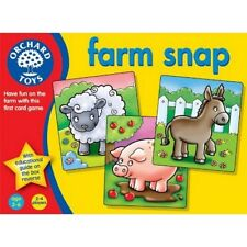 Orchard Toys Farm Snap Game Games Baby Toddler Child Card Animals Educational